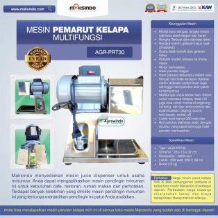 Jual Mesin Pemarut Kelapa Multifungsi AGR-PRT30 di Surabaya