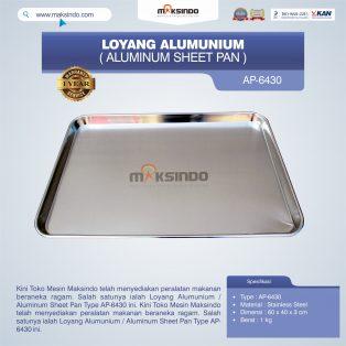 Jual Loyang Alumunium / Aluminum Sheet Pan Type AP-6430 di Surabaya