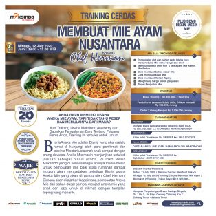 Training Cerdas Membuat Mie Ayam Nusantara, Minggu, 12 July 2020