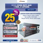 Jual Mesin Oven Gas 2 Loyang (MKS-GO12) di Surabaya