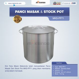 Jual Panci Masak Dan Stock Pot MKS-PP71 di Surabaya