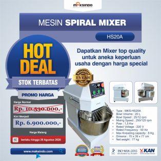 Jual Mesin Mixer Roti SPIRAL MKS-HS20A di Surabaya