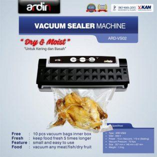 Jual Mesin Vacuum Sealer VS02 Ardin (basah dan kering) di Surabaya