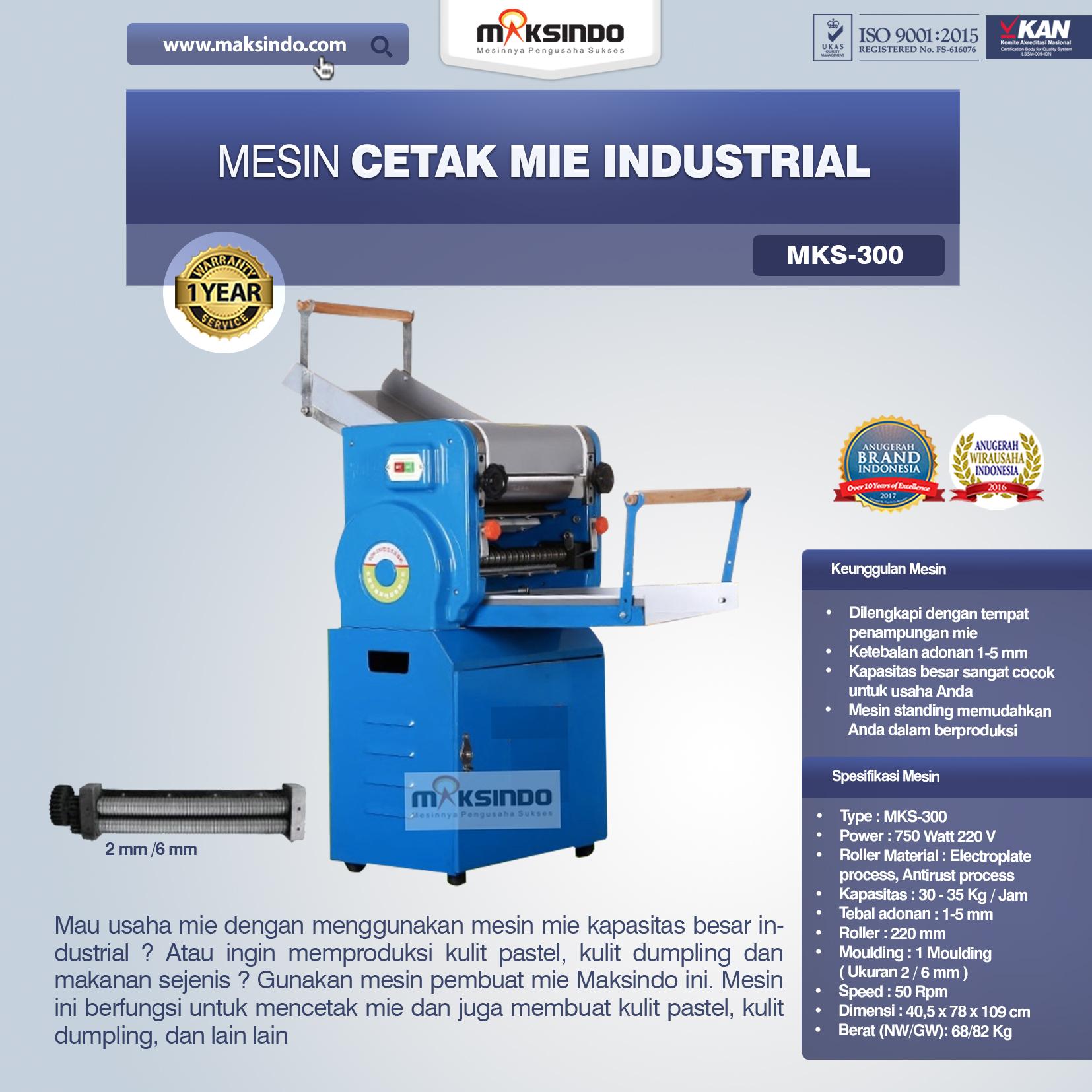 Jual Mesin Cetak Mie Industrial (MKS-300) di Surabaya ...