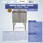 Jual Gas Deep Fryer 25 Liter 1 Tank (G75) di Surabaya